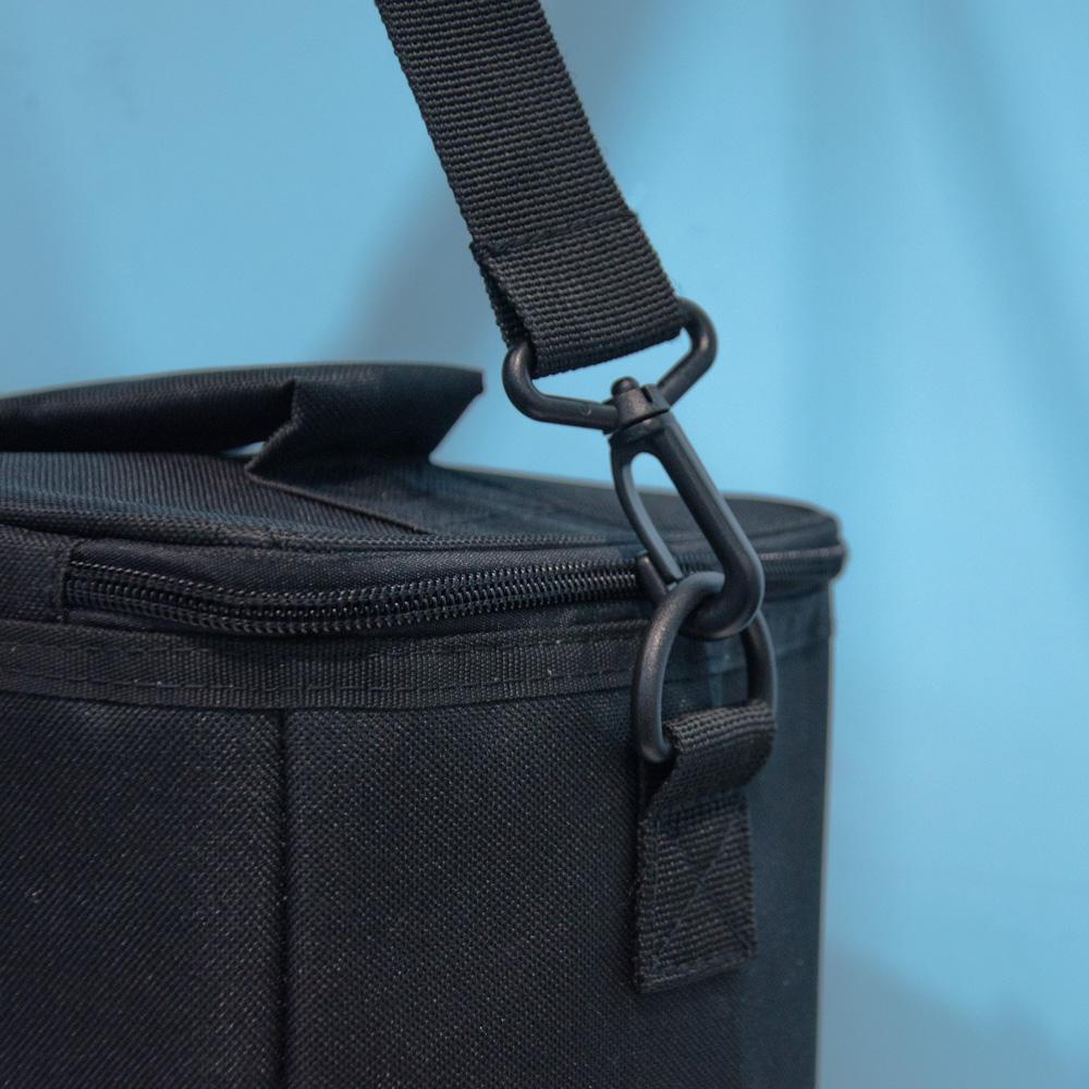 可調肩帶 方形便攜牛津布 保冷袋-黑色 D0037
