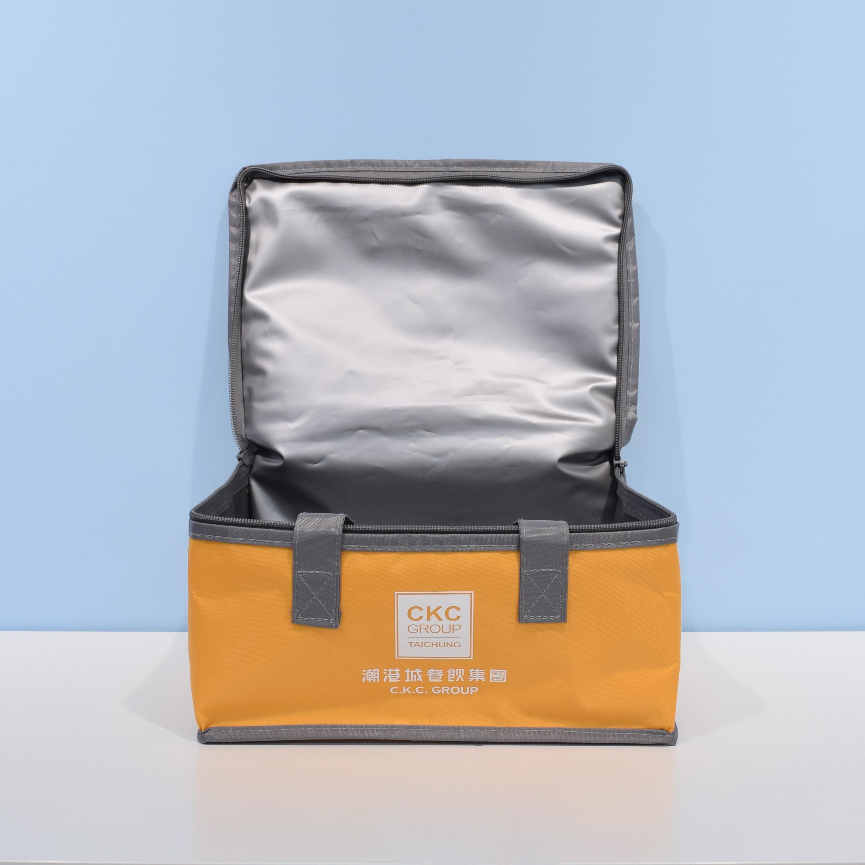 輕巧型方形牛津保冷袋-橘色 D0022