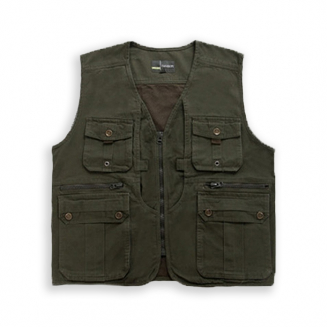 Double Layer Pockets Angling Vest 96420