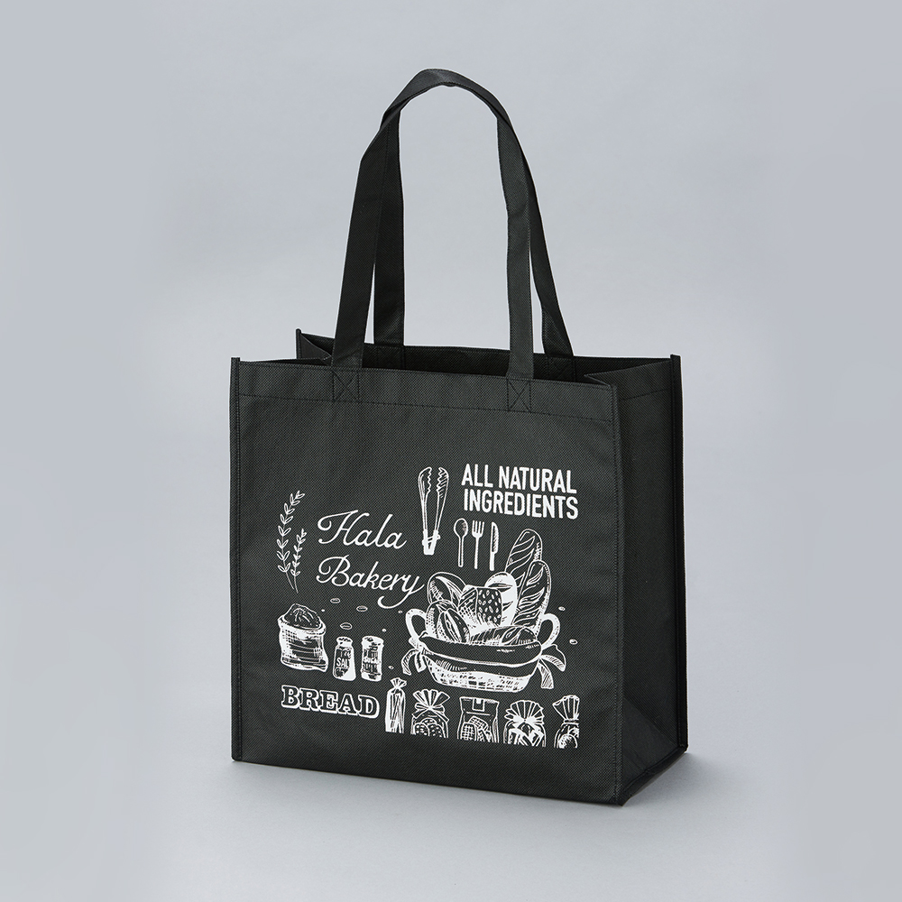【Customized】Non-woven Black Reusable Bag C0008