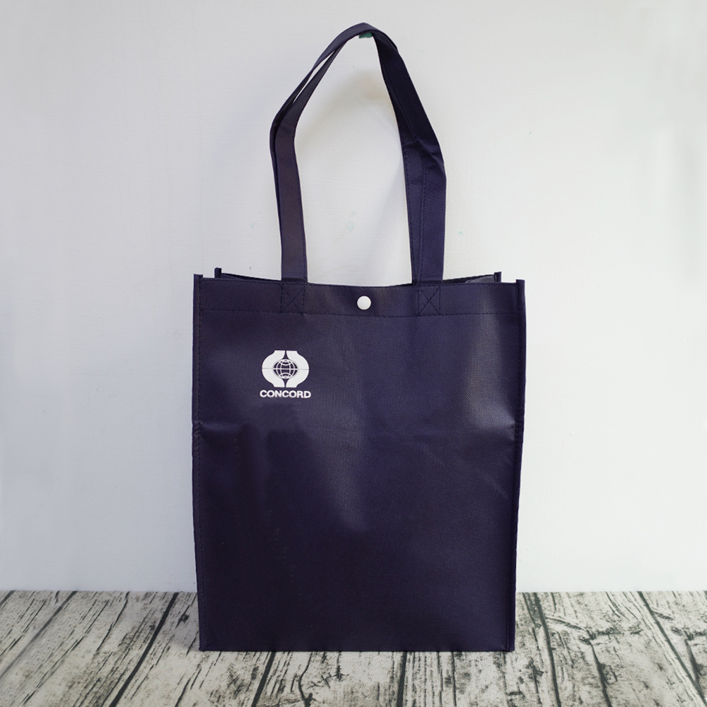 【Customized】Non-woven Gusseted Reusable Bag - Black C0002