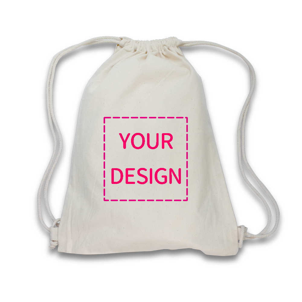 【Custom Printing】Cotton Canvas Drawstring Backpack