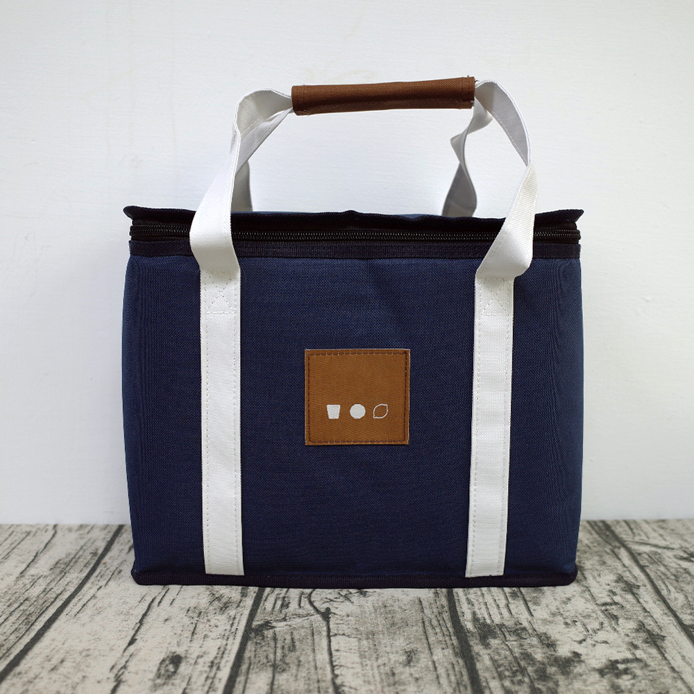【Customized】Navy Insulated Cooler Bag with Tag  D0004
