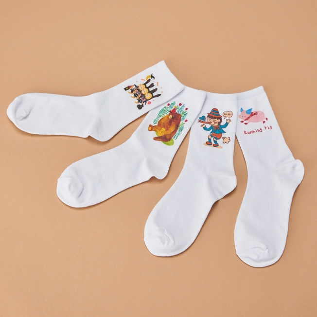 【Digital Printing】Pure Cotton Socks (small amount allowed)