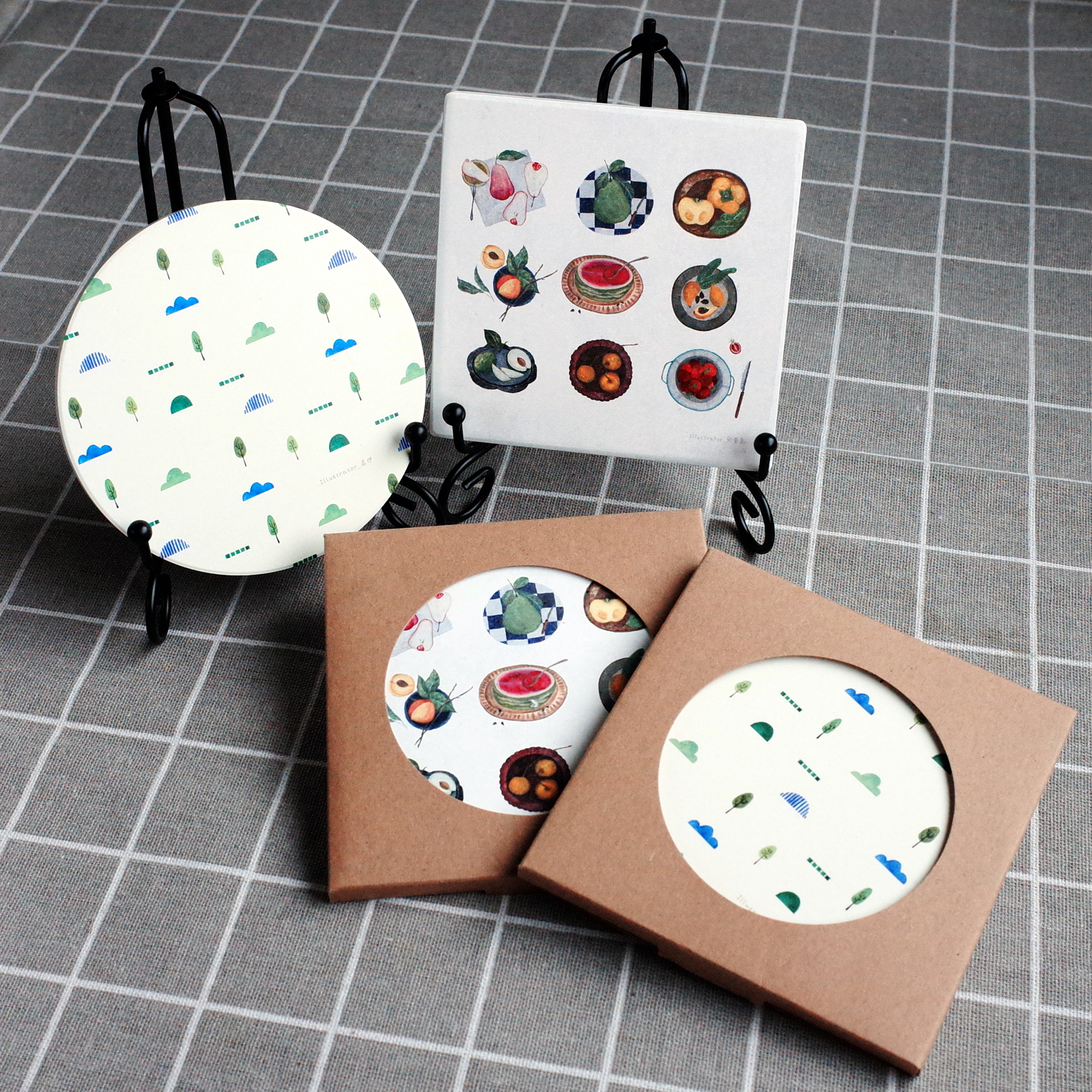 【Custom Printing】Ceramic Drink Coaster Cup Mat