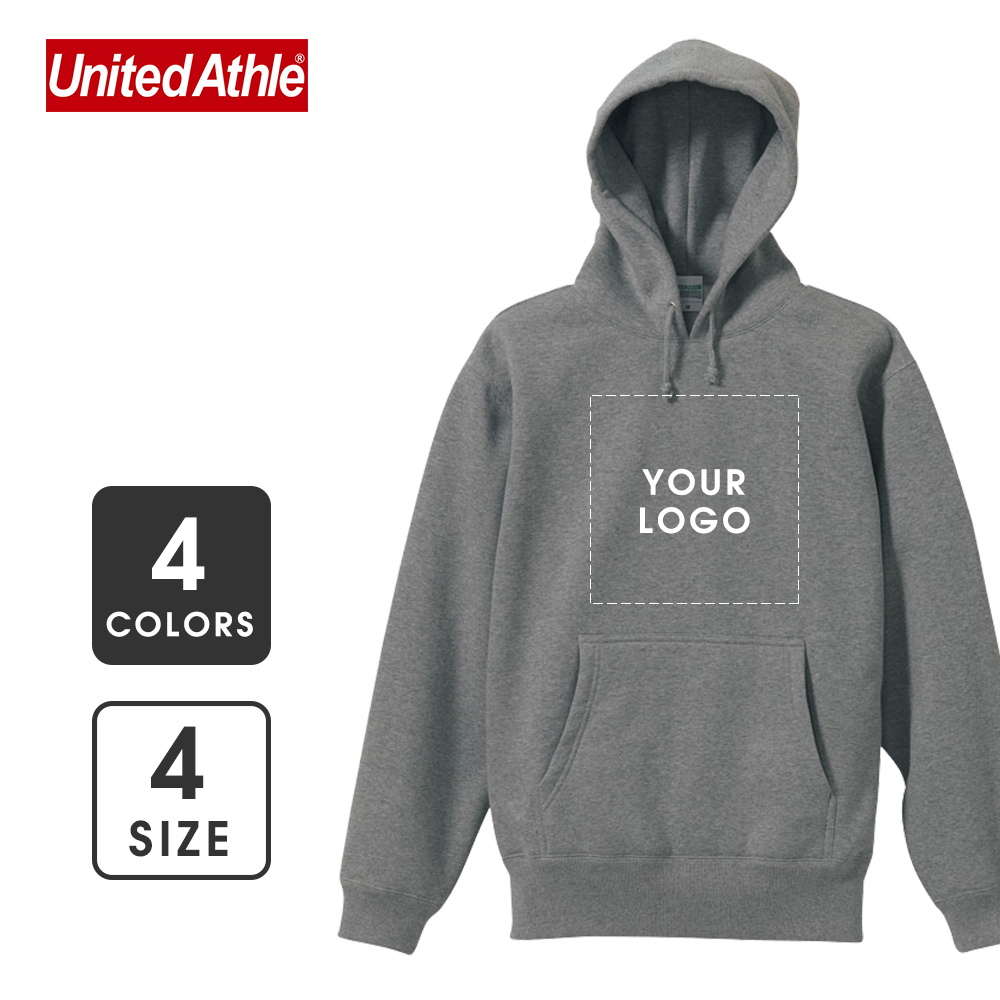 【United Athle】10.0oz Cotton Hoodie with Fleece Lining