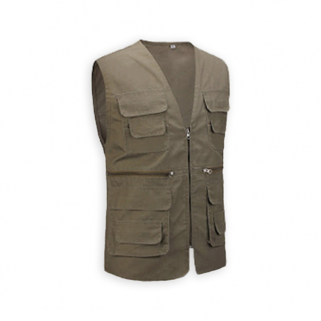 Thin Single Layer Pockets Angling Vest