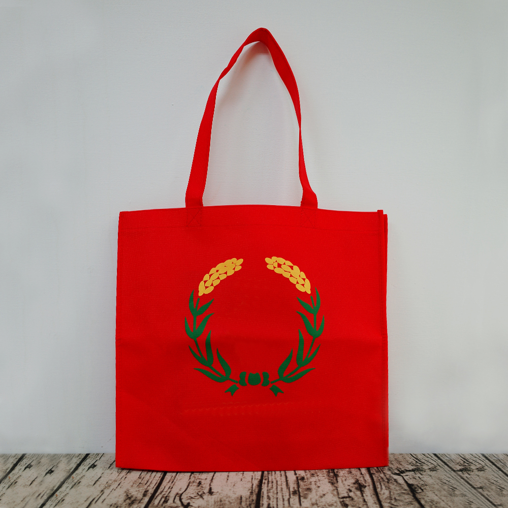 【Customized】Non-woven Red Reusable Bag  C0006
