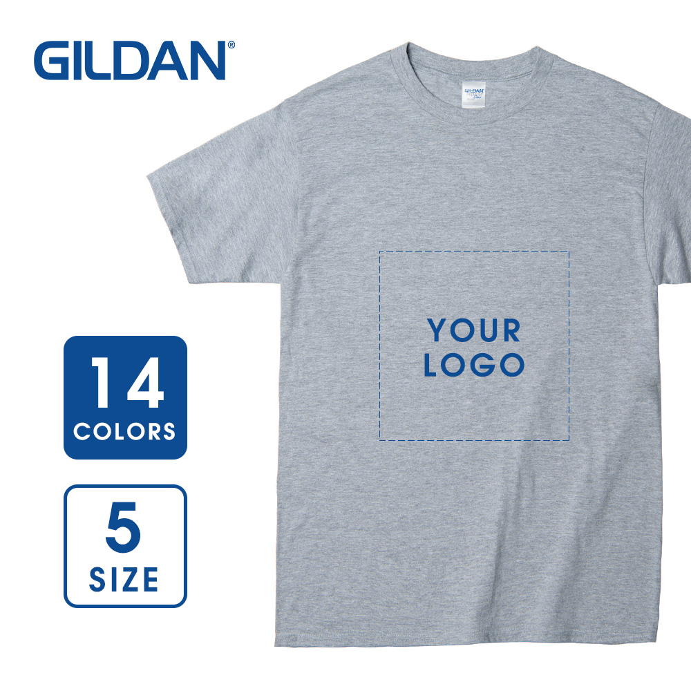 【Gildan】5.3 oz Men's Classic Short Sleeve T-shirt