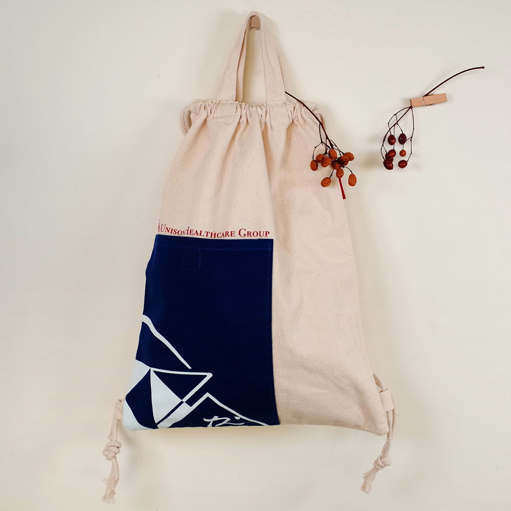 【Customized】Canvas Dual Used Drawstring Backpack F0010