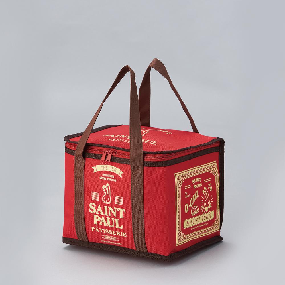 聖保羅方形保冷袋-紅色 D0002