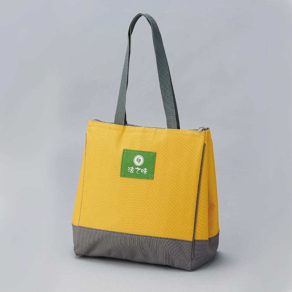 芥末黃 經典三角手提保冷袋 D0013