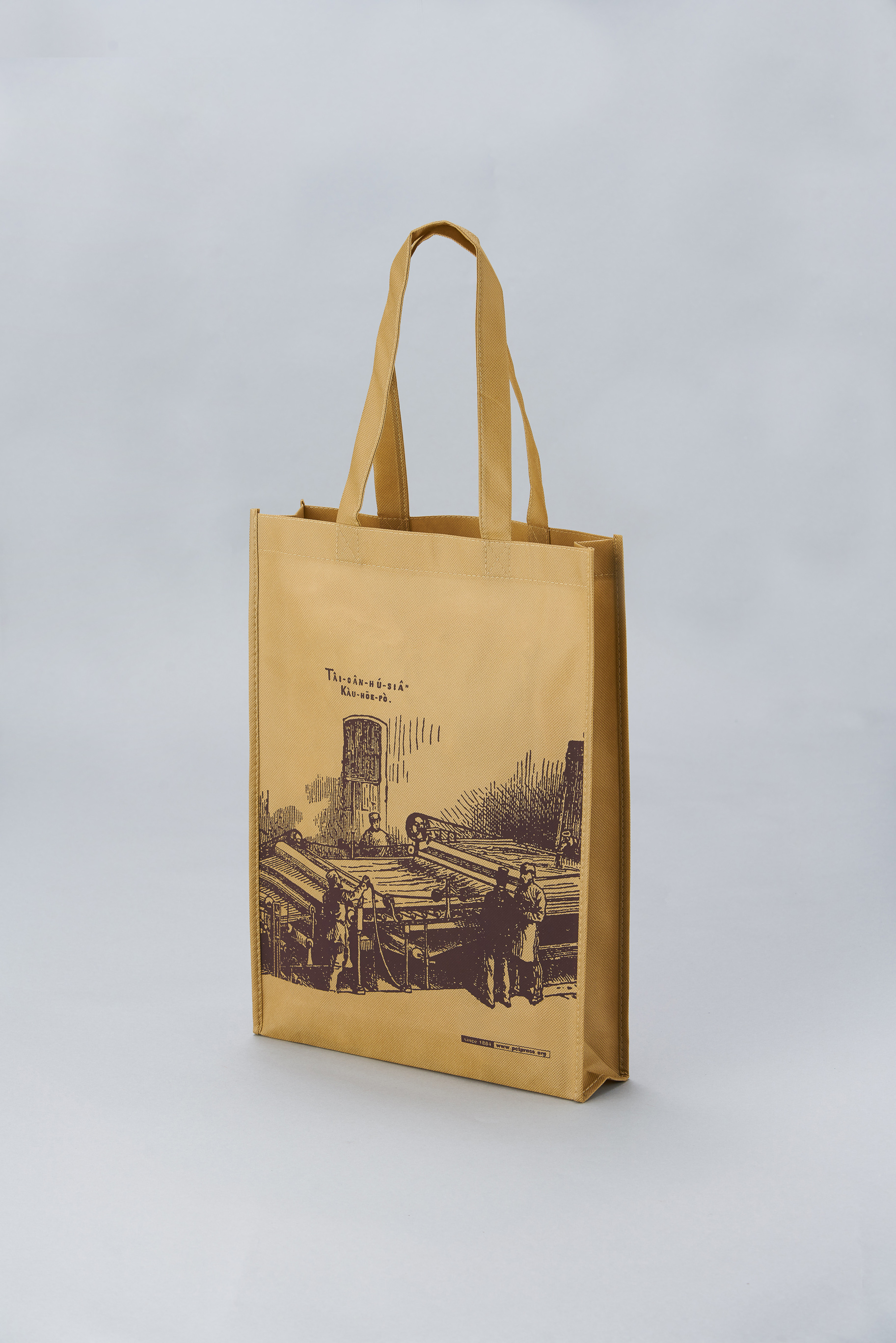 【Customized】Non-woven Brown Reusable Bag C0009